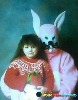 Scary Easter Bunny photos- http://worldwideinterweb.com #easterphotos