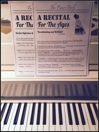 Reflect On Recital Performances With A Fun Free Printable Piano Recital Teach Piano Today Piano Teaching