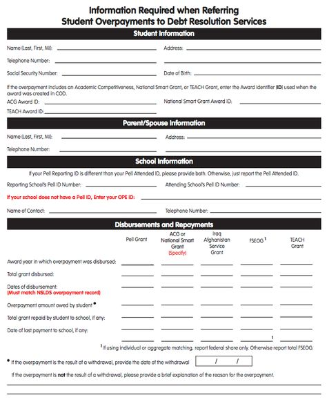 EDu0027s form for reporting overpayments 216 Overawards and - grant report form