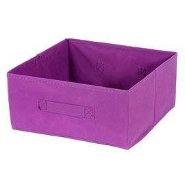 Boite De Rangement Rectangulaire En Textile Mixxit Coloris Violet Boite De Rangement Boite Rangement