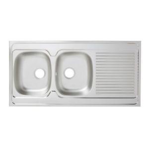 Meuble Sous Evier 2 Portes Blanc Primalight 120 Cm Evier En Inox Meuble Sous Evier Et Evier