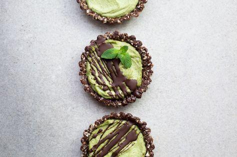 Mint Chocolate Mini Tarts Vegan Gluten Free Recipe Mint