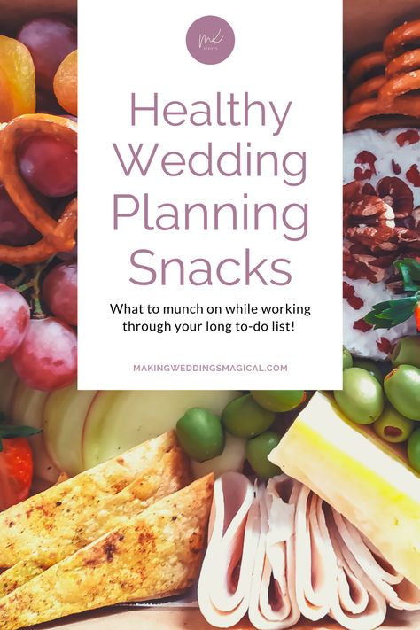 I don't know about you, but when I sit down to dive into something I usually like to come with a snack. It makes things more enjoyable to be munching while I'm working, and wedding planning is no exception. I've got some great snack ideas to keep you energized! Just click the picture to check them out. #snacks #healthysnacks #weddingplanning
