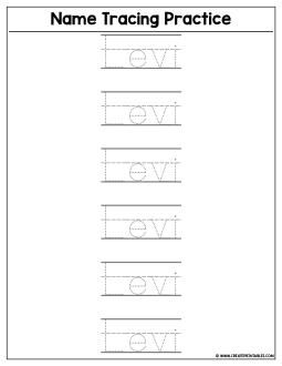 Custom Name Tracing Worksheet Preview Create Printables