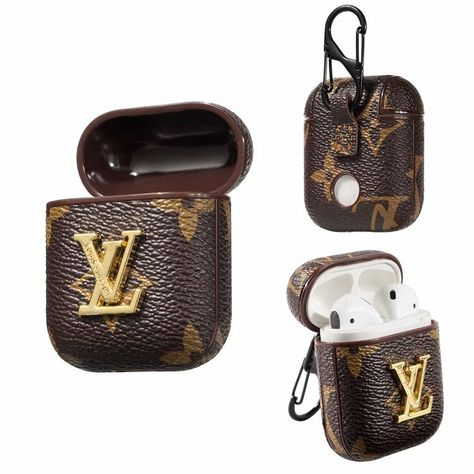 Lv Airpods 1 Airpod 2 Case Monogram Canvas Skin Charging Cover