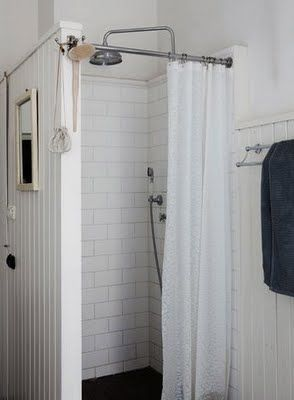 Image Result For Tiled Shower Stall With Curtain Small Shower