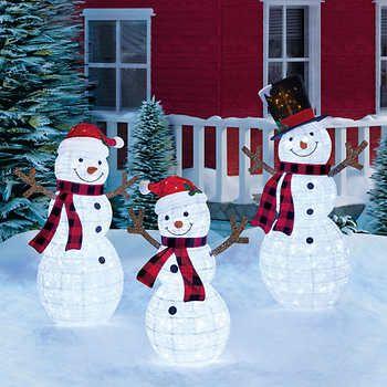 Pop Up Snowman Decorations, Outdoor Light Up Snowman Costco