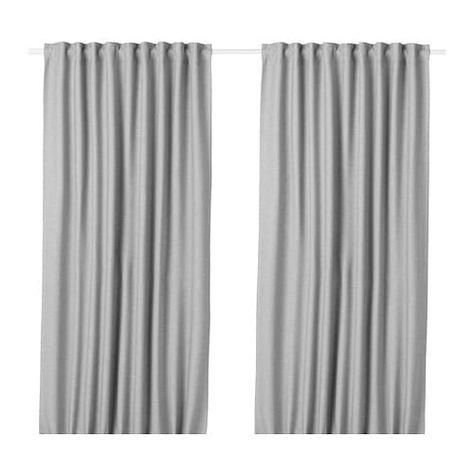 Vilborg Room Darkening Curtains 1 Pair Gray Room Darkening