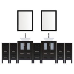 Modern 120 Inch Double Bathroom Vanity Set With Mirror From Lesscare Double Vanity Bathroom Vanity Set With Mirror Modern Bathroom Vanity