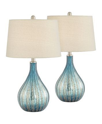 Pacific Coast Blue And Grey North Glass Table Lamps Set Of 2 Reviews Home Macy S Table Lamp Sets Glass Table Lamp Lamp Sets