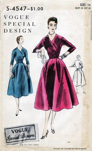 Vogue S 4547 Vintage Dress Patterns Vintage Sewing Patterns Vogue Patterns