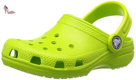 Enfants Crocs Crocband Sabots K Navy Volt Green Clogs Sandales Taille