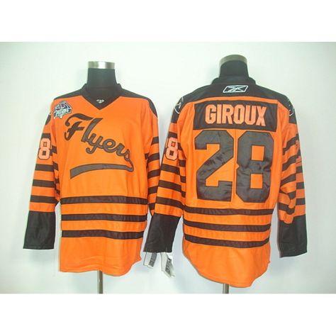 8dc0e87b2 Reebok NHL Claude Giroux 28 Jerseys Philadelphia Flyers Orange Ice Hockey Jersey  Winter Classic
