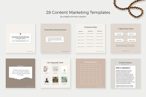 Instagram Content Marketing Templates (Canva + Photoshop)