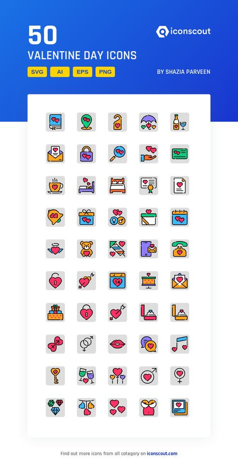 Download Valentine Day Icon pack - Available in SVG, PNG, EPS, AI & Icon fonts