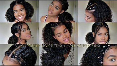 9 EASY CURLY HAIRSTYLES (NATURAL HAIR) + Hair Cuffs