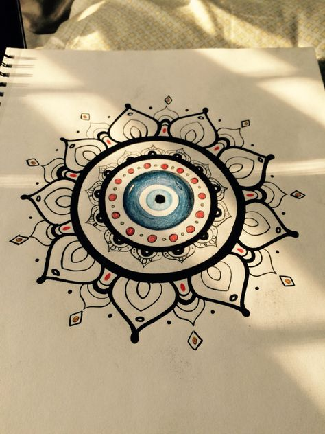 My evil eye drawing that I eventually want to get tattooed... #tattos