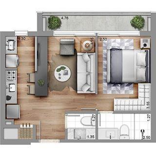 Amazing Architecture Aamazingaarchitecture Fotos Y Videos De Instagram Small Apartment Plans Studio Apartment Floor Plans House Plans