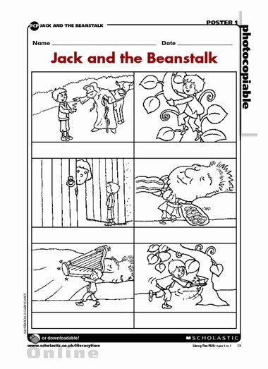 Fairy Tales Worksheets For Preschoolers Printable And The Beanstalk Sequence Fairy Tale Activities W Jack And The Beanstalk Story Telling Activities Worksheets
