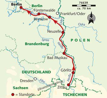 Karte Der Reise 7663r Radtouren Muggelsee Zisterzienserkloster