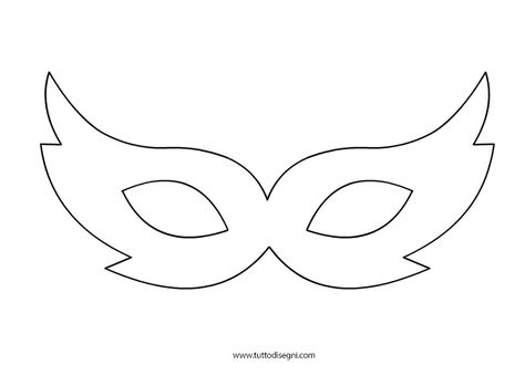 Masquerade Mask Pattern Use The Printable Outline For Crafts