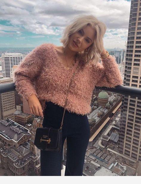 Fleece pink sweater
