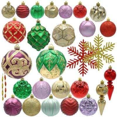 Warm Tidings Assorted Ornament Set 75 Count Christmas Ornament Sets Ornament Set Christmas Decorations Ornaments