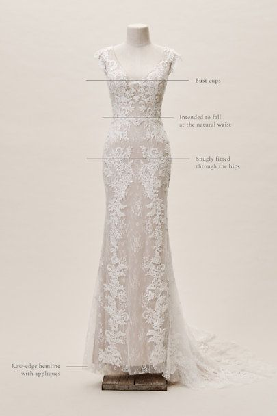 Whispers Echoes Milano Gown In Ivory Almond Size 10 Used