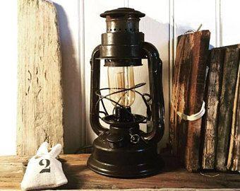 Lampe A Petrole Lanterne Lampe Tempete Electrifiee Eclairage