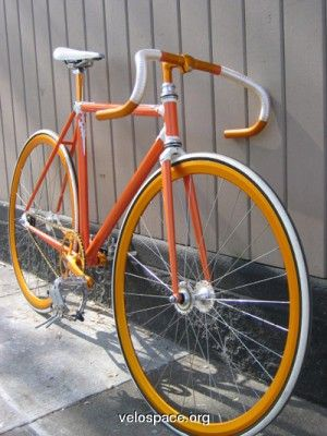 Dreamsicle Creamsicle Fixie in orange, karamel und silber von Velospace.org via London Fixed-gear & Single-speed