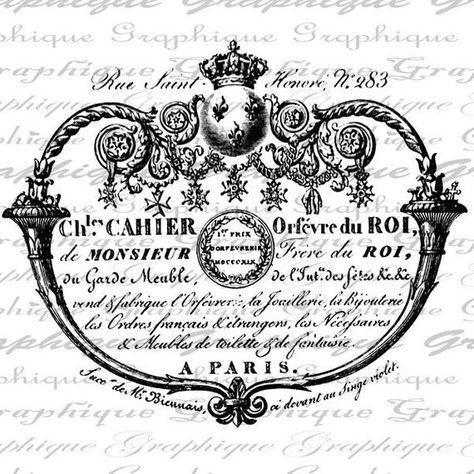 Paris Champs Elysees Crown Ornate Digital Image Download Transfer For Pillows Totes Tea Towels Burlap No 1661