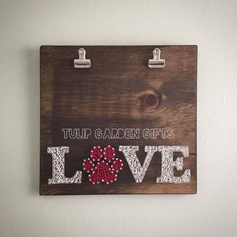 String Art Photo Display, String Art Picture Display, Pet Photo Display, String Art Photo Hanger, Pe