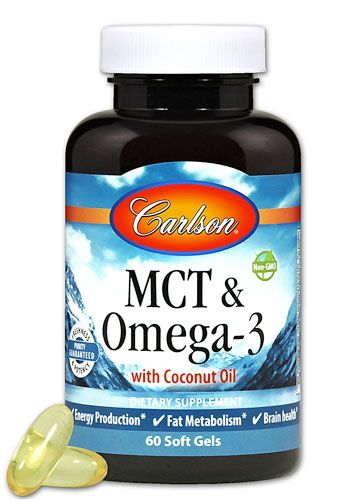 Comprar Carlson Mct Omega 3 With Coconut Oil 60 Softgels
