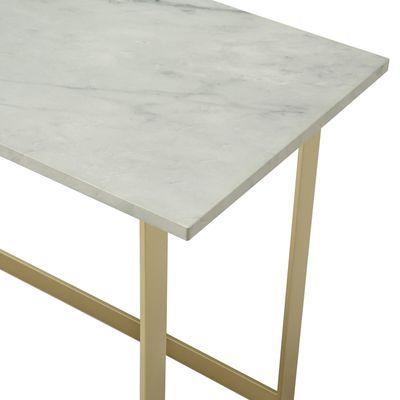 Elegant Glam Faux Marble Writing Desk Marble Desk Faux Marble Marble Table