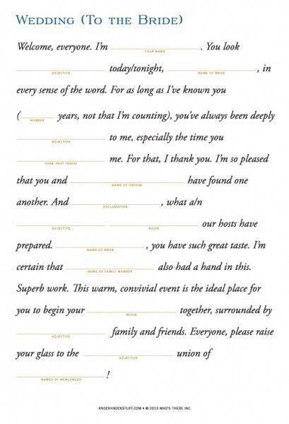 Instant Toasts To The Bride And Groom Printable Weddingspeeches Wedding Speech Best Man Wedding Speeches Funny Wedding Speeches