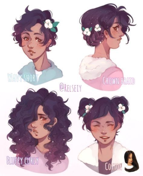 Curly Fluffy Hairstyle Drawing Fluffy Curly One Fluffy Curly One Curly Drawing Braidedhairstyledra In 2020 How To Draw Hair Art Short Hair Drawing