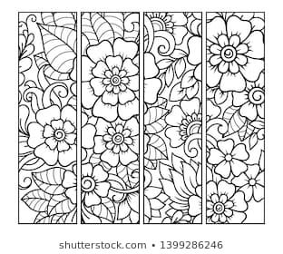 Katika S Portfolio Illustrator Vector Artist Videographer Shutterstock Coloring Books Glass Painting Patterns Coloring Bookmarks