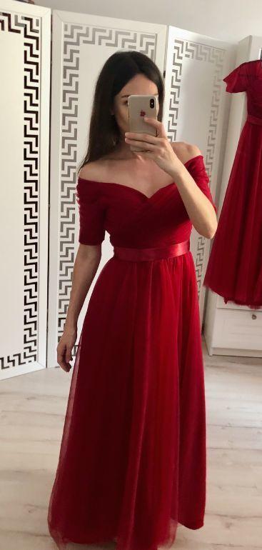 short elegant red bridesmaid dresses