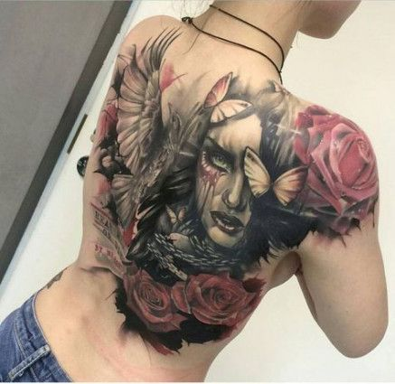 Inspiration Tattoo Ideas Back Girl Big For43 Ideas Tattoo