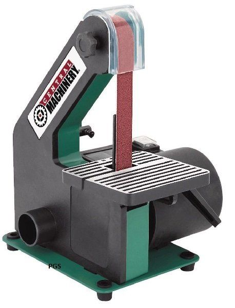 Belt Sander 1 In X 30 In Belt Machined 5 In X 5 In Table Central Machinery Sa60543 30er