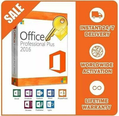 Details About Microsoft Office Pro Plus 2016 32 64 Bit Product Key License Instant Delivery In 2020 Office Delivery Windows Server 2012