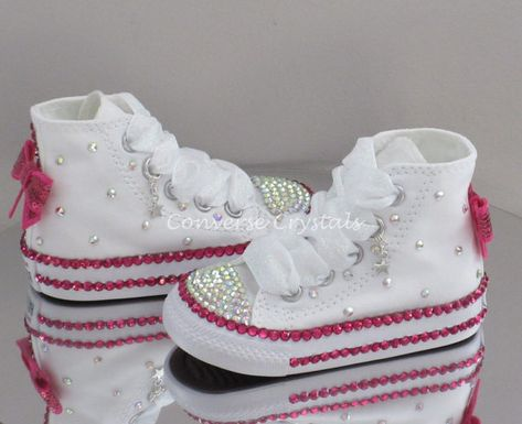 cae8757cc Baby Toddler Girls Custom Crystal  Bling  Converse - Double Row ...