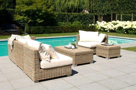 Meubles De Jardin Salon De Jardin Blanc Canape De Jardin En ...