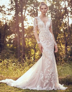 Pin By Bridal Extraordinaire On B E Lillian West White Bridal Dresses Fit Flare Wedding Dress Lillian West Wedding Gowns