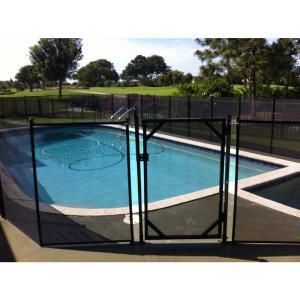 Waterwarden Self Closing Gate Wwg301 The Home Depot Pool Safety Fence Pool Gate Backyard Pool Landscaping