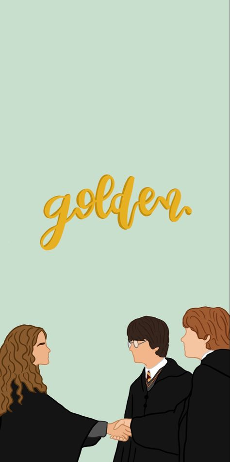 golden trio wallpaper