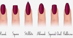 Image Result For Acrylic Nails Types With Images Nail Shapes