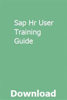 Sap Hr User Training Guide Gmc Denali Chemistry Practical Gmc Vehicles