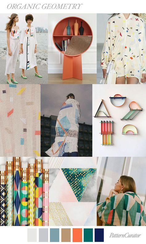 ORGANIC GEOMETRY by PatternCurator #SS19 #FashionTrendsMoodboard