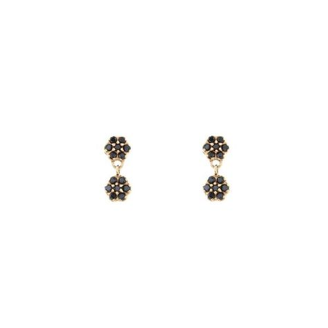 186a791f9 Large Black Diamond Pyramid Stud Earrings | Earrings | Earrings, Black  diamond, Stud earrings